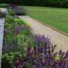 Border at terrace edge in Hampshire garden