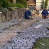 Granite sets being layed