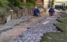 Granite sets being layed