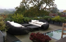 Roof terrace garden in Highgate apartment